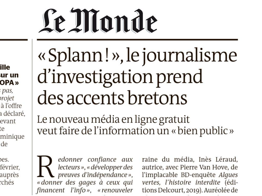 210217 - Le Monde Splann le journalisme d'investigation prend des accents bretons 02