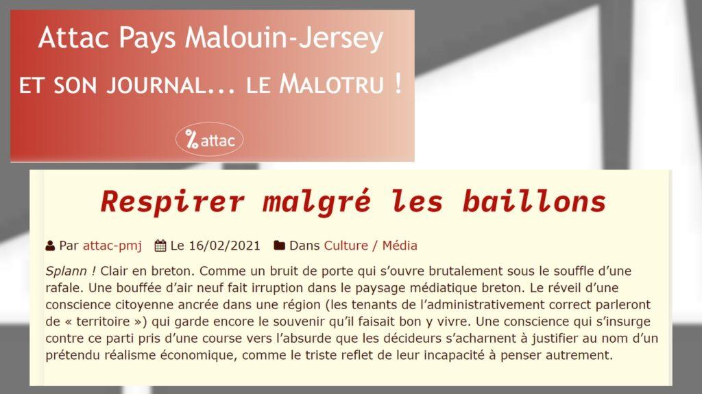 210217 - Le Malotru (Attac) Respirer malgré les baillons