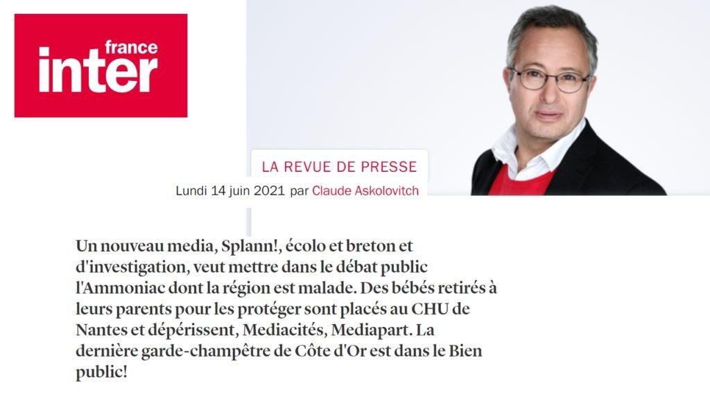 210614 - France Inter Revue de presse Claude Askolovitch