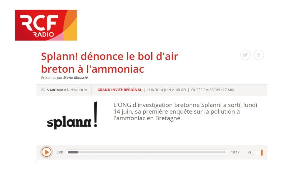 210614 - RCF Bretagne Splann ! dénonce le bol d'air à l'ammoniac