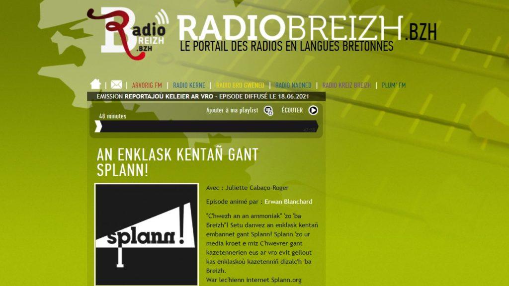 210618 - Radio Breizh An enklask kentañ gant Splann !